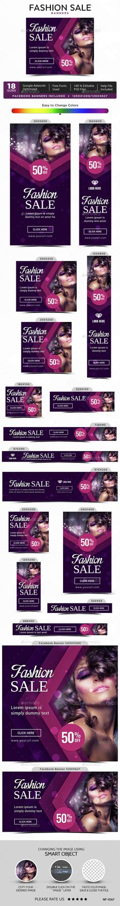 Fashion Sale Web Banners Template PSD. Download here: http://graphicriver.net/item/fashion-sale-banners/14844433?ref=ksioks