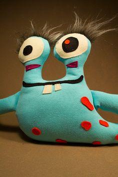 Stuffed Monsters Betram by Dolls for Friends, via Flickr