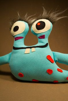 Stuffed Monsters   Betram by Dolls for Friends, via Flickr