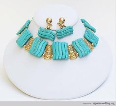 Torqouise Blue Coral Beads for your Nigerian Wedding | Nigerian Wedding