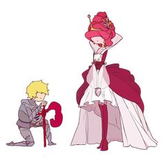 a knight and a princess by hotchococoa on DeviantArt http://hotchococoa.deviantart.com/art/a-knight-and-a-princess-352250659