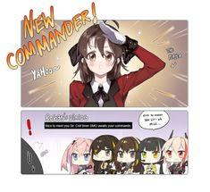 소녀전선 만화 - 여자 지휘관과 움사오(UMP45).manhwa움사오 기여어 출처 │deathALICE 트위터 htt... Find Memes, Girls Frontline, Nice To Meet, How To Look Pretty, Manga, Comics, Random Stuff, Anime Girls, Yuri