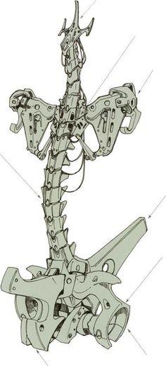 Cyborg innerskeleton or replacment. Robot Concept Art, Armor Concept, Character Art, Character Design, Robot Parts, Arte Robot, Arte Cyberpunk, Ex Machina, Robot Design