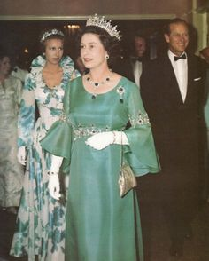 Queen Elizabeth II's Green Gown worn to the 1974 Commonwealth Games Closing Ceremony