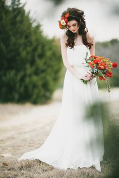 bride alone poses 9
