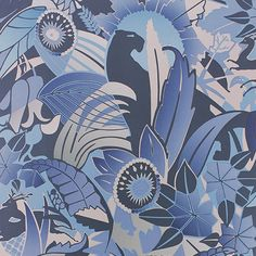 Osborne & Little: Fantasque - A sleek panther stalks amongst extravagant Art Deco foliage. Geometric Wallpaper Design, Modern Wallpaper, Of Wallpaper, Designer Wallpaper, Wallpaper Designs, Luxury Wallpaper, Wallpaper Panels, Pattern Wallpaper, Wallpaper Online
