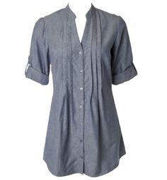 pleat front tunic blouse, super comfy!