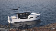 vik unveils electric boat that can be recharged from solar panels or wind power Speed Boats, Power Boats, Wind Power, Solar Power, Small Diesel Generator, Trawler Boats, Small Yachts, Parts Of The Earth, Electric Boat