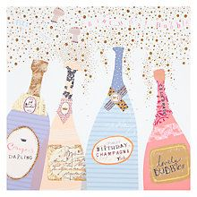 Buy Woodmansterne Champagne Bottles Birthday Card Online at johnlewis.com