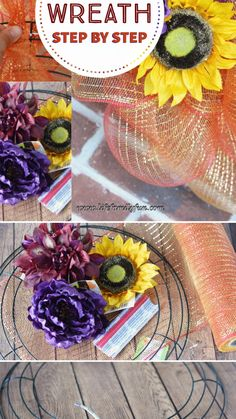 Deco Mesh Wreath DIY Tutorial Deco Mesh Wreaths are such a creative gi. - Deco Mesh Wreath DIY Tutorial Deco Mesh Wreaths are such a creative gift to give to any f - Deco Mesh Bows, Deco Mesh Garland, Deco Mesh Crafts, Mesh Ribbon Wreaths, Fall Deco Mesh, Halloween Deco Mesh, Christmas Mesh Wreaths, Easter Wreaths, Deco Mesh Wreaths