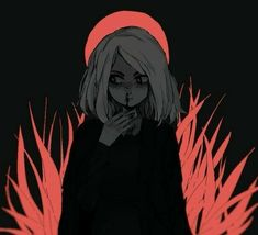 She tried again the next night, on something different from yesterday if he was right, and drew a different style of self portrait still depicting herself being engulfed in bloody nature. Art Manga, Anime Art, Aesthetic Art, Aesthetic Anime, Art And Illustration, Art Sketches, Art Drawings, Vent Art, Arte Obscura