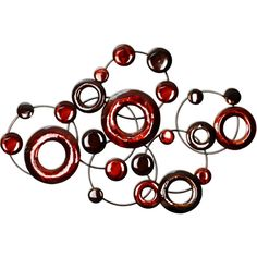 Stratton Home Decor SPC 940 Metallic Circles Wall Red Awesome Products Selected By Anna Churchill