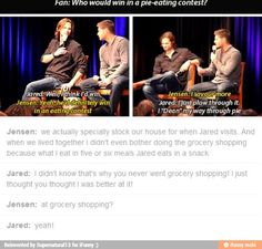 "J2 lol. ""I just thought you thought I was better at it!"""