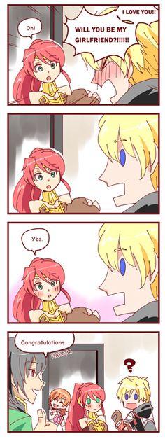 Jaune asking Pyrrha