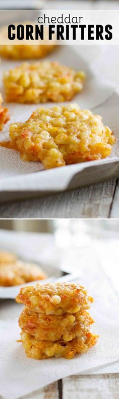 The perfect use for fresh corn, these Cheddar Corn Fritters are cheesy, irresistible and melt-in-your mouth delicious.