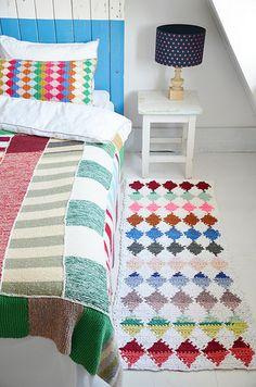 wood & wool harlequin rug #crochet pattern