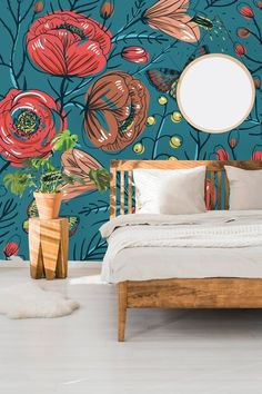 Removable Wallpaper Self Adhesive Wallpaper Vintage Roses and Butterflies Peel & Stick Wallpaper Wallpaper Mural Wallpaper Panels, Self Adhesive Wallpaper, Peel And Stick Wallpaper, Wallpaper Murals, Wall Murals, Wallpaper Ideas, Wall Art, Flower Mural, Interior Wallpaper
