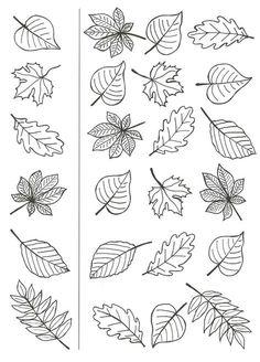 Autumn Crafts, Autumn Art, Thanksgiving Crafts, Autumn Leaves, Art For Kids, Crafts For Kids, Leaf Template, Halloween Drawings, Flower Doodles