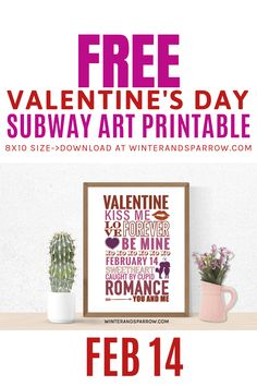 free valentines day subway art printable winterandsparrow com valentinesdayprint valentinesdays # Valentines Day Dinner, Valentines Day Gifts For Him, Valentines Day Decorations, Valentine Day Crafts, Shark Week, Valentine's Day Printables, Printable Art, Party Fotos, Subway Art