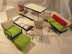 Vintage Retro Dollhouse Or Barbie Type Mid Century Modern Furniture Must See Lot Ebay