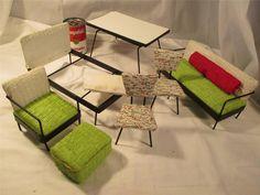 Vintage Retro Dollhouse or Barbie Type Mid Century Modern Furniture Must See Lot   eBay