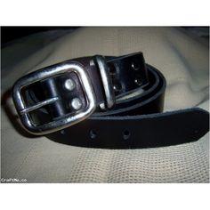 Men's Very Long Black Leather Belt