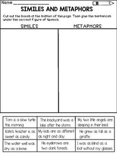 Similes and Metaphors Activity Packet