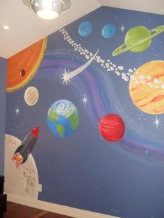 Fun bedroom wall mural...wish i could paint like this! 63b84925da