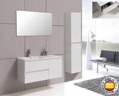 AQUA DECOR Delia 39-Inch Modern Bathroom Vanity Set - White Or Anthracite