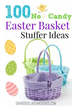 A great list of candy free easter basket themes egg ideas spring 100 easter basket stuffer ideas no candy negle Images