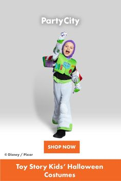 Shop now for all your kids Halloween costumes at Party City. Toy Story Halloween Costume, Toy Story Costumes, Halloween Costumes For Kids, Buzz Lightyear Costume, To Infinity And Beyond, Stories For Kids, Disney Pixar, Toys, Children