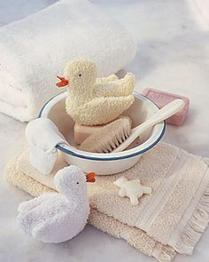 Handcrafted Baby Shower Gifts  Washcloth Duckies