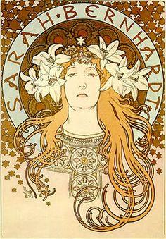 Art Nouveau. Cartel realizado por Mucha para Sarah Bernhardt