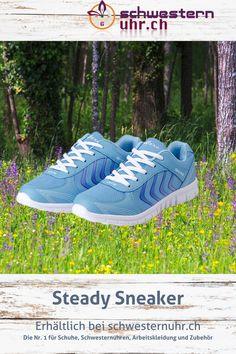 Frühlingsgefühle 🤩🌷 Steady Sneaker Blau für Damen. Nur CHF 39.-! Robuster Turnschuh für Fitness, Sport und Freizeit. Superleicht und bequem. Jetzt bei schwesternuhr.ch bestellen - Ohne Versandkosten. Schweizer Unternehmen.   #schwesternuhrch #schwesternschuhe  #sneaker #steadysneaker #fitness Running Shoes, Sneakers, Fashion, Light Up Trainers, Blue Sneakers, Comfortable Work Shoes, Comfortable Shoes, Comfortable Sneakers, Fitness Shoes