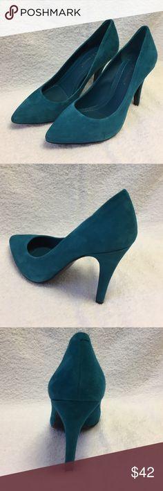 BCBGeneration Pumps Suede Pumps. Gorgeous teal color in excellent condition. 4 inch heel. BCBGeneration Shoes Heels