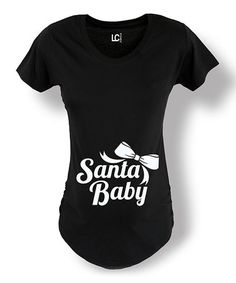 Look at this #zulilyfind! Black Bow 'Santa Baby' Maternity Tee - Women #zulilyfinds