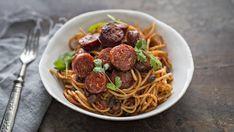 Chorizo Pasta, Pasta Dishes, Risotto, Nom Nom, Spaghetti, Healthy Recipes, Healthy Food, Ethnic Recipes, January