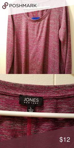 Jones New York light sweater, multi color, Large Beautiful sweater multi color, light material. Flair to bottom. Jones New York Tops Blouses