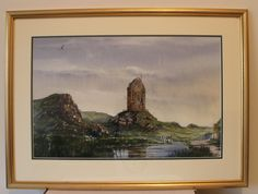 Original watercolour by renowned artist Charles Evans from 2002. Subject is Smailholm Tower in the Scottish Borders. Painting is framed, glazed and signed. Framed size measures 26 inches x 19.5 inches. Visible image measures 20 inches x 13 inches.