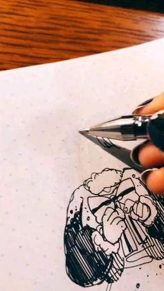 Anime Drawings Sketches, Cool Art Drawings, Beautiful Drawings, Arte Sketchbook, Art Inspiration Drawing, Cartoon Art Styles, Drawing Clothes, Drawing Challenge, Anime Artwork