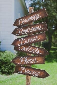 which way wedding sign | rustic wedding ideas | bohemian wedding | #weddingchicks