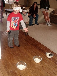 This blog has a lot of cute ideas for a ninja party.