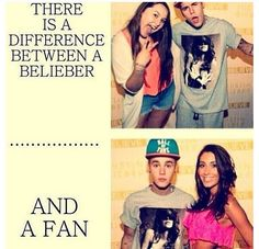 True! Beliebers are much better than only fans! Beliebers are forever,fans are for maybe one week and the next week they forget Justin and then they love one direction or someone else! Fans are normal you know, Beliebers are not normal just like our idol,Justin.. <3