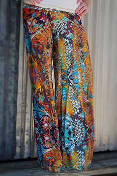 LOVE these! Water Colors Palazzo Pants | The ZigZag Stripe LLC #thezigzagstripe