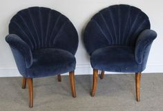 Lot # : 128 - Pair of Art Deco Upholstered Chairs.