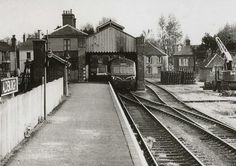 Aldeburgh station in 1963 with a diesel multiple unit about to depart for Saxmundham. Station To Station, Old Train Station, Train Stations, Disused Stations, Steam Railway, Old Trains, British Rail, Seaside Towns, Train Tracks