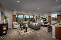 New Homes in Surprise, AZ - Villas at Sycamore Farms Plan 1551 Great Room Sycamore Farms, African Interior Design, Arizona, Farm Plans, Kb Homes, Phoenix Homes, New Home Communities, Hotel Suites, Build Your Dream Home