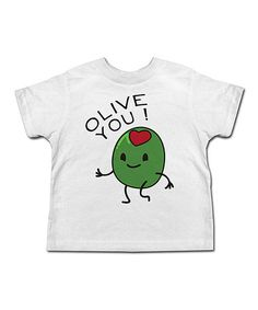 Look what I found on #zulily! White 'Olive You' Tee - Toddler & Kids #zulilyfinds