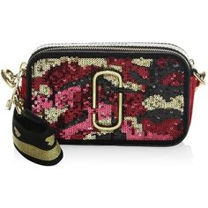 de6e2c9bbf78 Marc Jacobs Camouflage Sequined Crossbody (5.337.635 IDR) ❤ liked on Polyvore  featuring bags