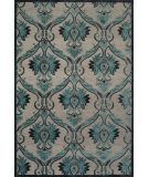 RugStudio presents Feizy Saphir Yardley 3658f Pewter / Charcoal Machine Woven, Good Quality Area Rug